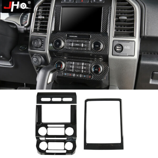 ABS Carbon Grain Center Console Panel Cover Trim For 2017 2020 Ford F150 Raptor $93.06