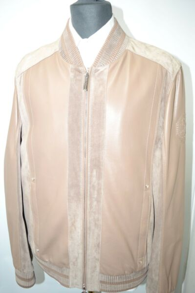 NEW 945000 $ STEFANO RICCI Outwear Coat Leather Us M Eu 50 G109