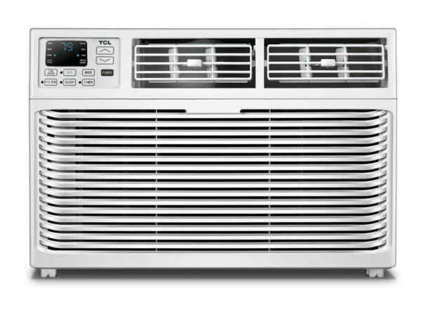 TCL 8000 BTU 3-Speed Window Air Conditioner with Remote Control - White