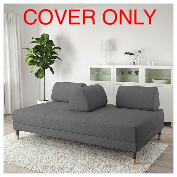 Ikea FLOTTEBO COVER SLIPCOVER FOR Sleeper Sofa Bed Lysed Dark Gray 603.425.00 47 $59.78