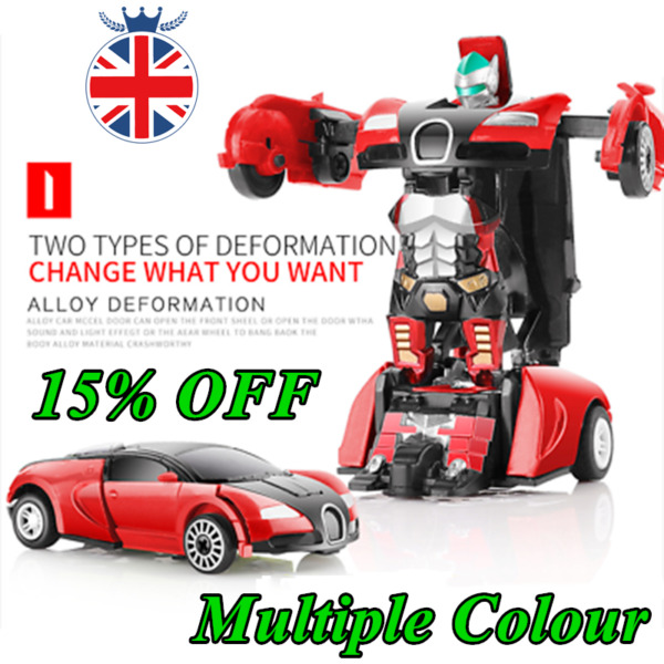 Robot Car Transforming Kids Toys Toddler Vehicle Cool Toy For Boys Xmas Gift
