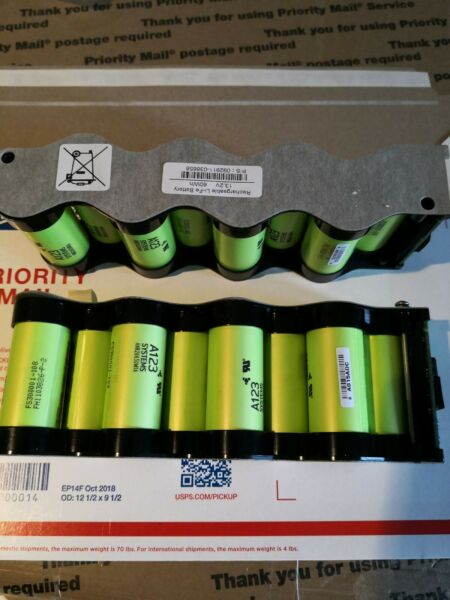 16 Cells In 2 Packs Of 8 Batteries 13.2v 60wh A123 ANR26650M1B LiFePo