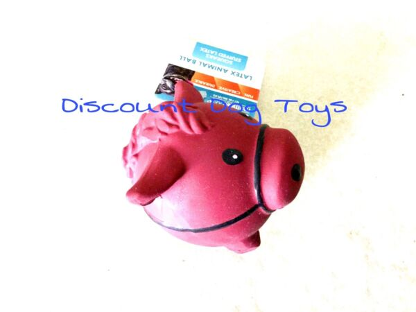 Multipet Animal latex ball dog toy Horse squeaker 3 inch $19.98