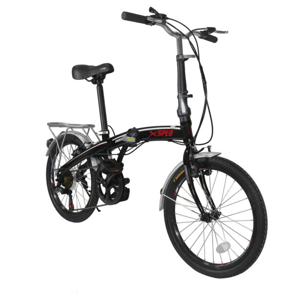 Xspec 20quot; 7 Speed City Folding Mini Compact Bike Bicycle Commuter Black $249.99
