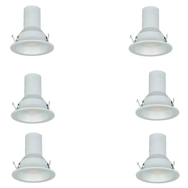 Commercial Electric 5 in. White Recessed Baffle Trim (6-Pack)