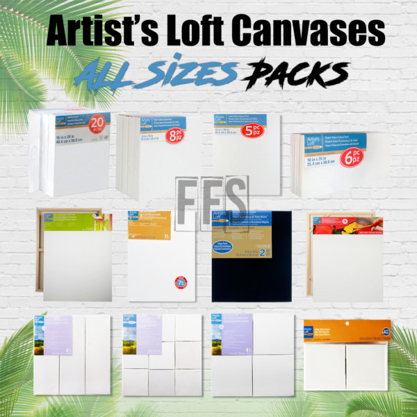 Artists Loft Stretched Canvas Set Art Oil Acrylic Painting ALL PACKS  SIZES lot $7.85