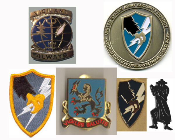 ASA Shadowbox SPECIAL-Coin-PINS-Patch Army Security Agency ASA LIVES! LFCF!
