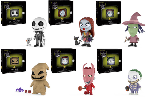 FUNKO 5 STAR DISNEY#x27;S THE NIGHTMARE BEFORE CHRISTMAS VINYL Articulating FIGURES