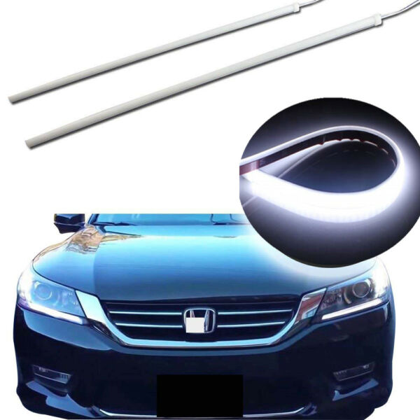 Super Slim 45CM LED DRL Strip Lights Headlight Retrofit For 13-15 Honda Accord
