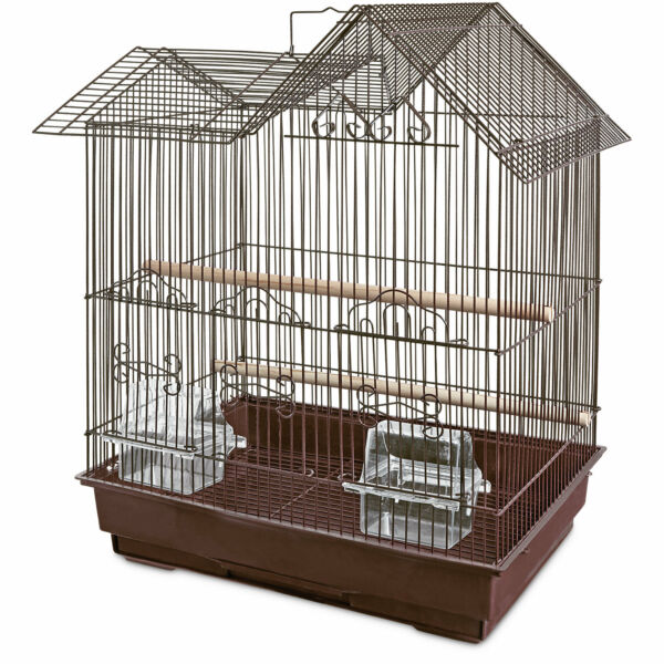 You & Me Parakeet Ranch House Cage, Brown