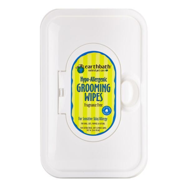 Earthbath Natural Hypo-Allergenic and Fragrance Free Grooming Wipes