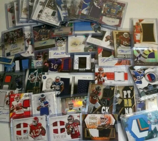 Football SUPERSTOCK Football Card Grab Bag 12 Card Lot Stars 3 JerseyAuto Cards