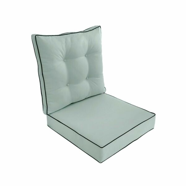 S3 AD002 Love Sofa Deep Seat Cushion Back Rest Buttons 24x24x5 Pillow Outdoor $89.50