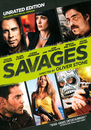 SAVAGES: Blake Lively John Travolta Salma Hayek (DVD 2012) 1st Class Shipping