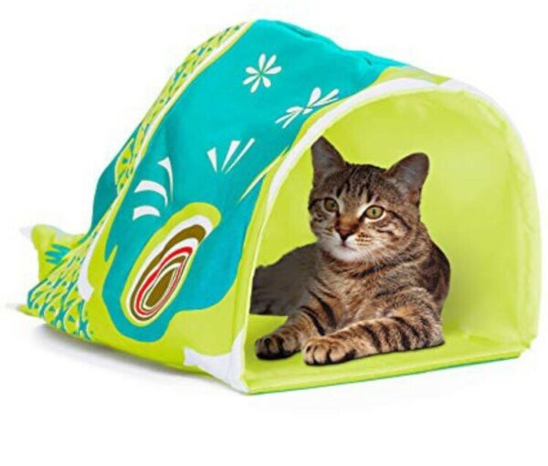 Cat Or Dog Cave With Crinkle Bottom Fish Lightweght Foldable Buy The Cat Ladie $7.00