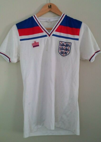 1982 World Cup *Official* Admiral England Football Jersey (#2 Viv Anderson)