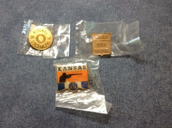Old Federal Pins 2014 Gold Medal 1984 Federal Grand 2005 Kansas Trapshoot