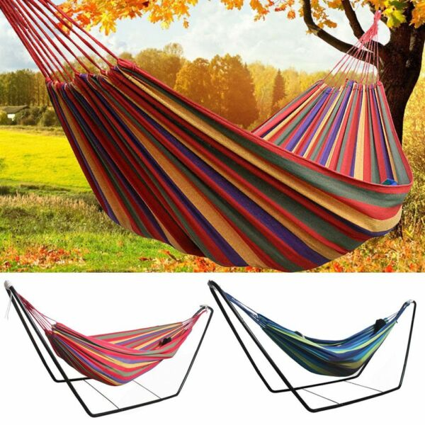 Metal Hammock Stand Frame Double Person Large Garden Camping Outdoor Patio Swing $55.99