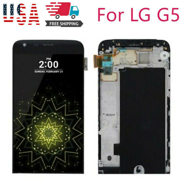 For LG G5 VS987 LS992 US992 RS988 H820 LCD Frame Screen Digitizer Replacement US