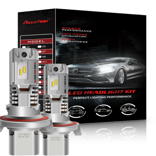 4-sides 9007 LED COB Headlight Kit 2000W 300000LM Hi-Lo Beam Bulbs 6500K White