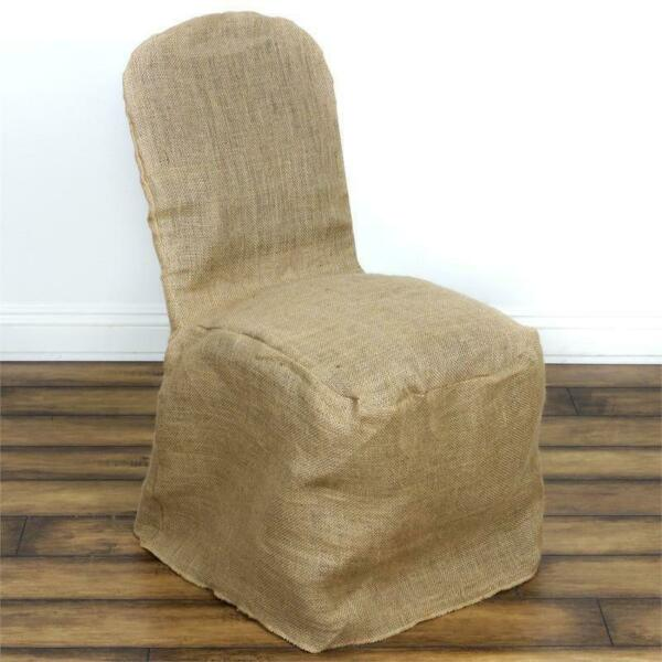 Natural BURLAP Jute BANQUET CHAIR COVER Country Rustic Ceremony Decorations