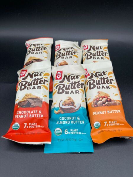 60 Assorted Flavor - Clif Bar Nut Butter Filled - Organic non-GMO 6-7g Protein