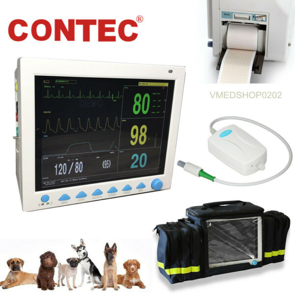 VET ICU Veterinary Patient Monitor Vital Signs Animal CO2 capnographPrinterBag