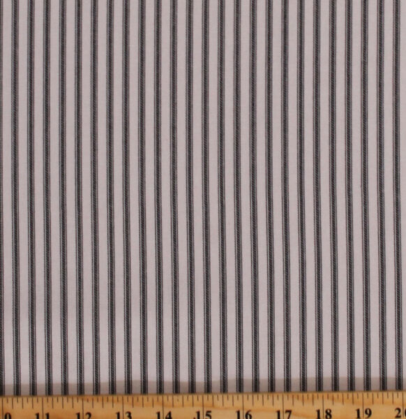 Ticking Stripe Black Natural Home Decor Yarn Dyed Cotton Duck Fabric BTY D272.06 $9.97