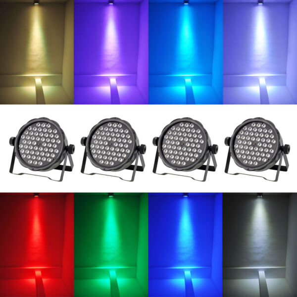 4x Par STAGE Light RGB LED 54X3W DMX512 PAR64 DJ KTV Show Wedding Uplighting NEW