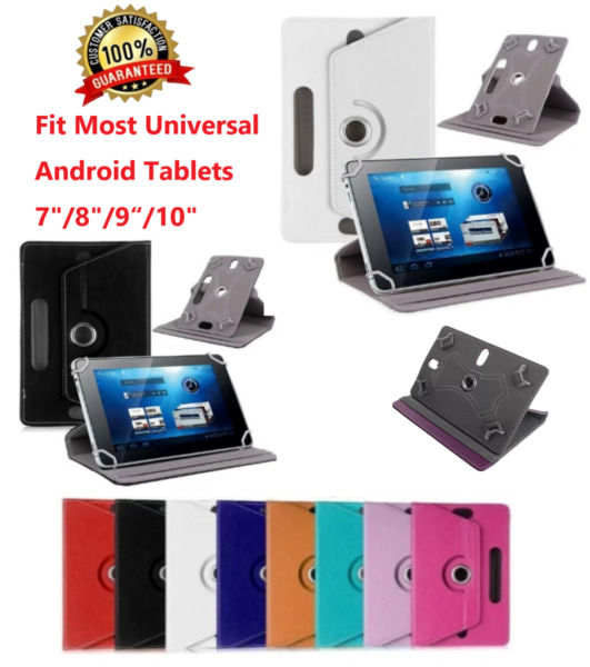 For Universal Android Tablets 7quot; 8quot; 9quot; 10quot; 10.1quot; Folio Leather Case Cover 360° $9.99