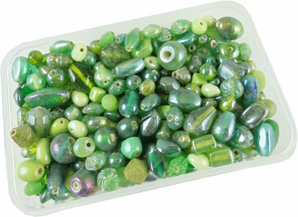5 12mm 200 gm Handmade Fancy Furnace Green Color Glass Beads for Jewelry Making $18.90