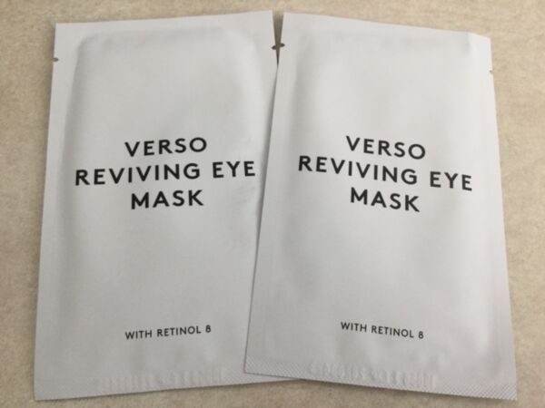 Verso LOT 2 x Reviving Eye Mask w Retinol 8 $30 Value EXP 42020 Hydrogel Mask