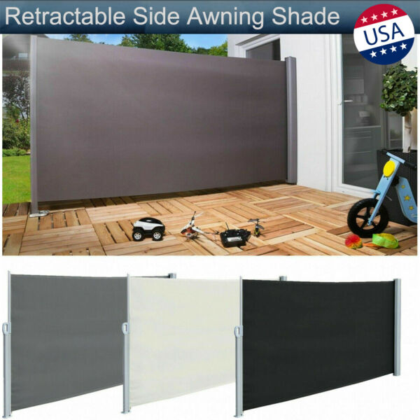 Retractable Side Awning Sunshade Patio Privacy Wind Screen Divider Garden Fence