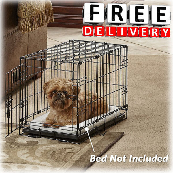 Folding Crate Pet Crates 22quot; Dog Cage Medium Size Single Door Divider Kennel New $49.99