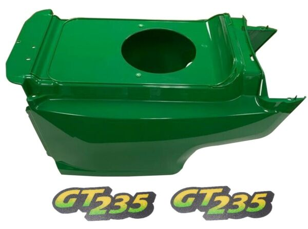Lower Hood& Set of2 Decals Replaces AM132688 M126056Fits John Deere GT235LOW SN