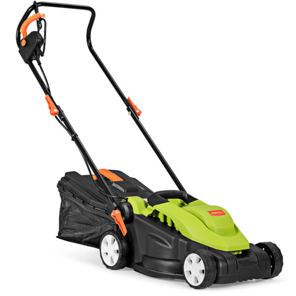 14-Inch 12Amp Lawn Mower Utility Electric Push Lawn Corded Mower Outdoor Garden