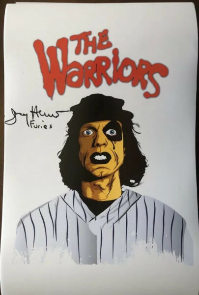 THE WARRIORS FURIES GANG actor JERRY HEWITT Signed 11x17 Photo Munson #3 Game