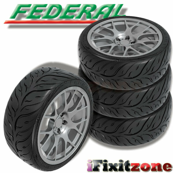 4 Federal 595RS RR 225 45ZR15 87W Extreme Performance Sport Racing Summer Tire