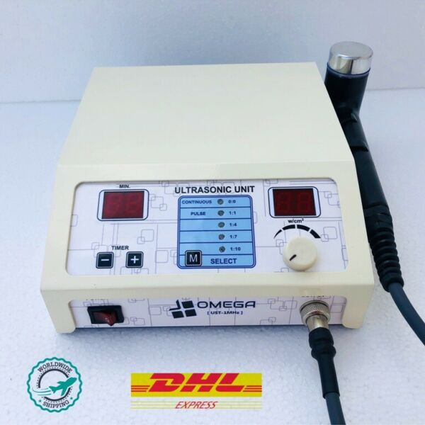 Pro. Omega Ultrasound Therapy 1Mhz Frequency Machine 3 to 5 Days USA Delivery