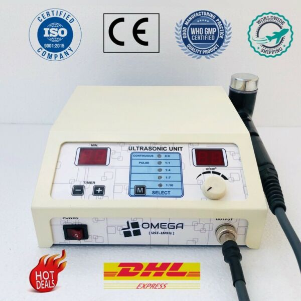 Ultrasound Therapy Device 1mhz Frequency Machine Pulsed and Continuous : Omega
