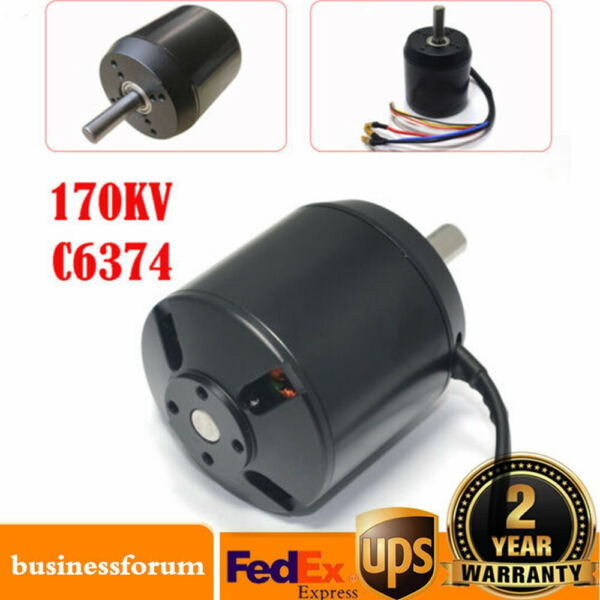 For electric skateboard longboar C6374 efficience brushless motor 170KV US STOCK