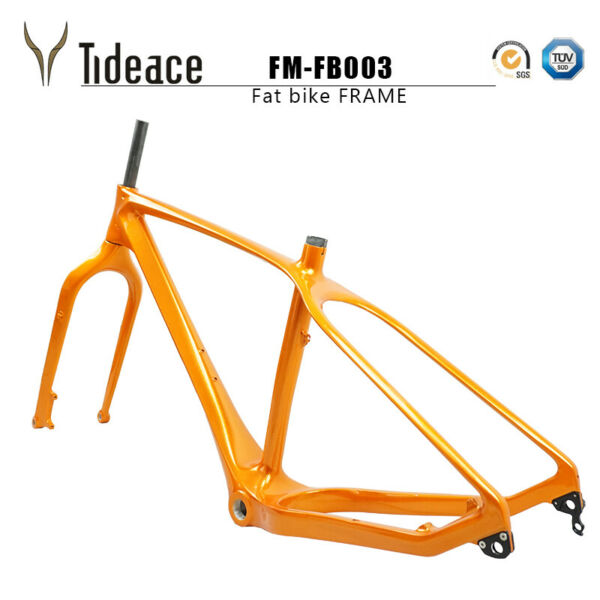 Tideace 2020 26er Carbon Fiber Snow Mountain Bicycle Frames BSA 120mm Fat Bikes