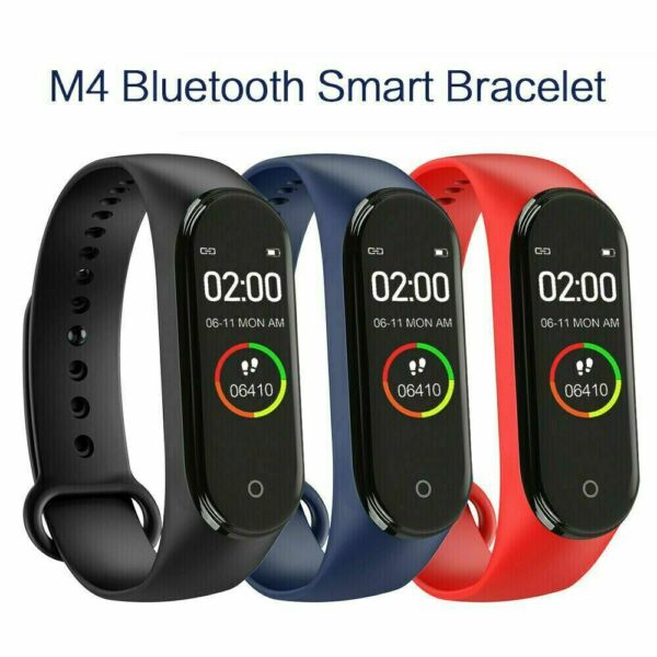 M4 Smart Watch Band Heart Rate Blood Pressure Monitor Tracker Fitness Wristband $7.99