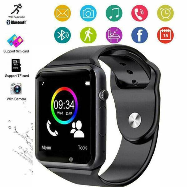 Bluetooth Smart Wrist Watch A1 w Camera GSM Phone For iPhone Android Samsung LG $10.50