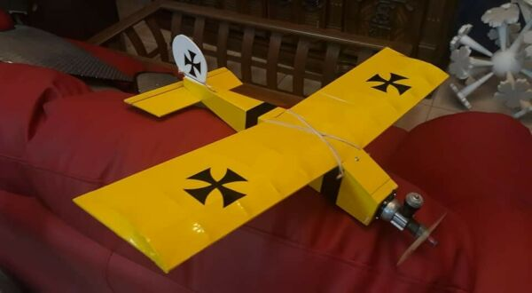 The Littlest Stick ACE RC Airplane Model Kit New Laser Cut by WillyNillies.com