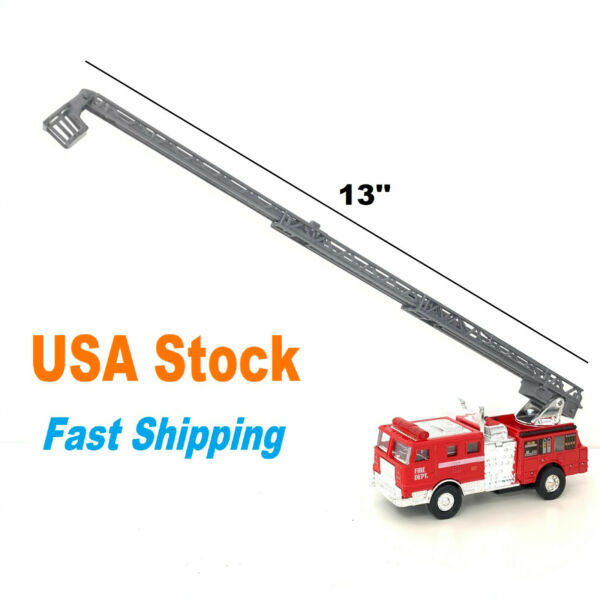 Fire Truck Diecast Model Toy Car 5 inches with Extending Ladder