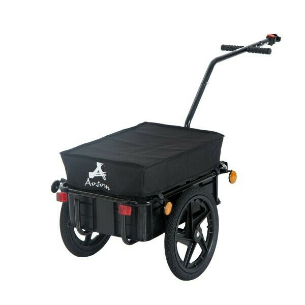 Bike Cargo Trailer Utility Steel Luggage Carrier Bicycle Storage Box Transport GBP 128.98