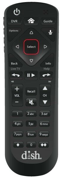 Dish Network 54.0 Voice Satellite Receiver Remote Control For Hopper Wally
