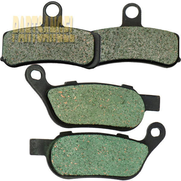 Front and Rear Carbon Brake Pads For 2008 2017 Harley Dyna Low Rider FXDL $15.36