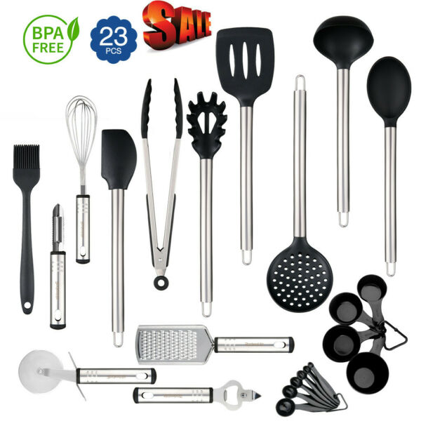 23-Piece Kitchen Utensil Set Stainless Steel Non Stick Cooking Bakeware Cookware